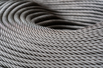 steel cables background close up