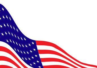 American flag illustration with empty space for a text