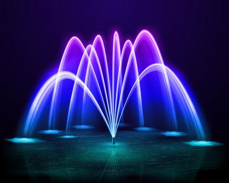 Colorful Fountain Realistic Image