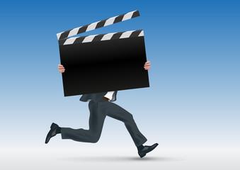 Cinéma - cap - film - présentation - concept - pancarte - présenter - affiche - symbole