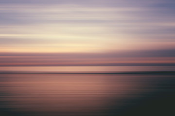 Abstract landscape at sunset