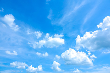 Sky blue or azure sky and cloud on summer daytime