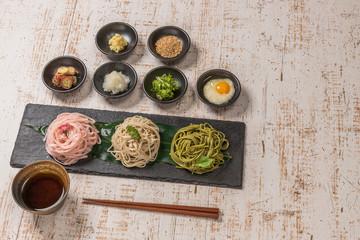 日本そば Japanese noodles(soba buckwheat noodle)