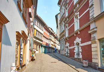 "So called ""Kraemerbruecke"" in Erfurt, Germany / Historical merchants' bridge"