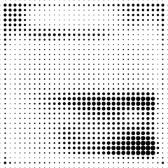 Abstract dotted halftone grungy texture. Vector design background