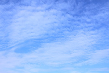 Beautiful blue sky and cirrus clouds. Background. Landscape.