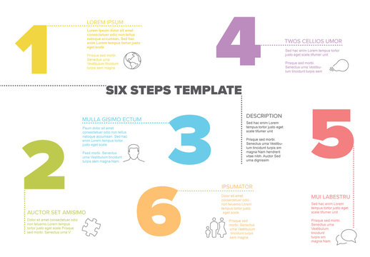 Infographic Layout with Colorful Numbers