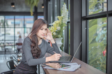 Successful Asian business people achieving goals