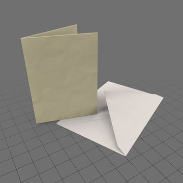 Upright card with envelope