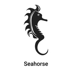 Seahorse icon vector sign and symbol isolated on white background, Seahorse logo concept