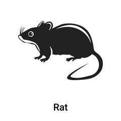 Rat icon vector sign and symbol isolated on white background, Rat logo concept