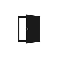 Open door icon. Vector illustration, flat design.