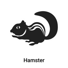 Hamster icon vector sign and symbol isolated on white background, Hamster logo concept