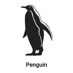 Penguin icon vector sign and symbol isolated on white background, Penguin logo concept