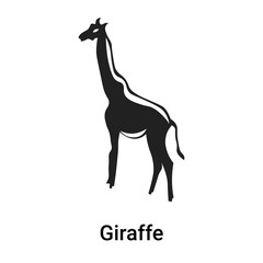 Giraffe icon vector sign and symbol isolated on white background, Giraffe logo concept