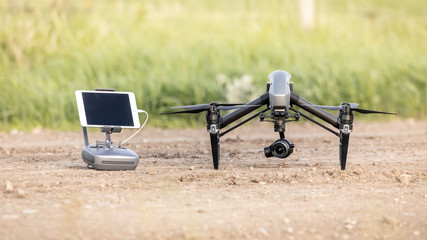 Cool Looking Black and Grey Drone With Camera