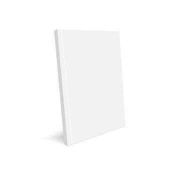 Mockup closed magazine, journal, booklet, postcard, flyer, business card or brochure . Vector