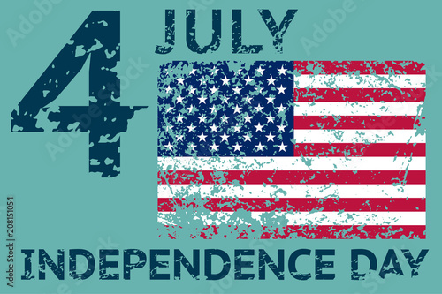 4th july independence day grunge american flag patriotic vintage