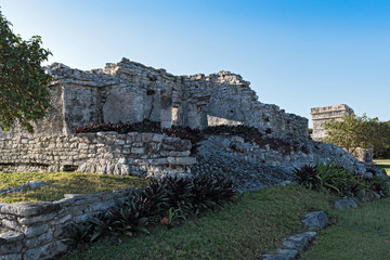 ruins of the mayan city tulum, quintana roo, mexico