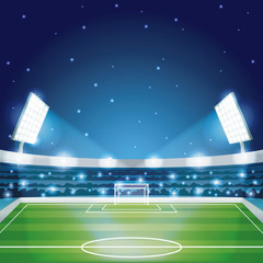 Soccer stadium field scenery vector illustration graphic design