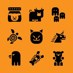 wild, kid, delicious and arctic icon set. Vector illustration for web and design.