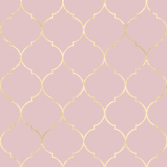 Vintage gold moroccan seamless pattern.