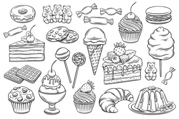 confectionery and sweets icons