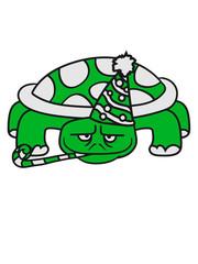 geburtstag feiern spaß party hut jubiläum feier anlaß comic cartoon schildkröte panzer lustig süß niedlich design cool clipart