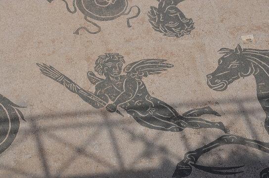 ancient ostia mosaic old