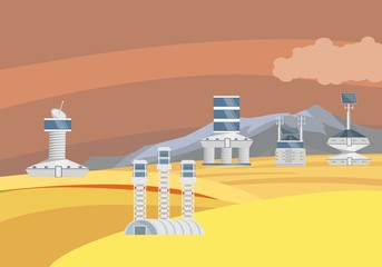 Fantastic future planet, concept vector illustration, fantastic future theme
