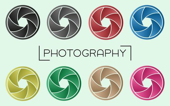 Camera Aperture Set - Gradient Color