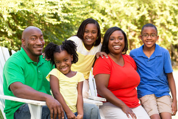 Happy African American Family.