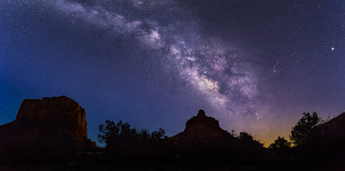 Arizona Milky Way - At Bell Rock and Courthouse Butte near Sedona, Arizona