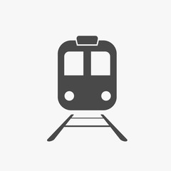 Train transport vector icon