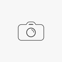 Camera line vector icon