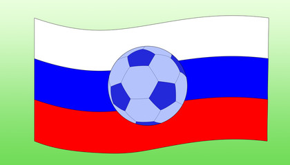 мяч и флаг