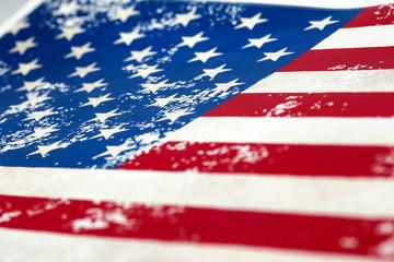 Closeup of american USA flag, , united states of america