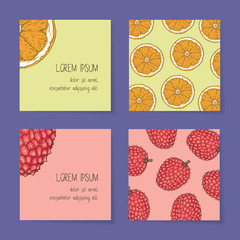 Fruit Business Cards Template Collection