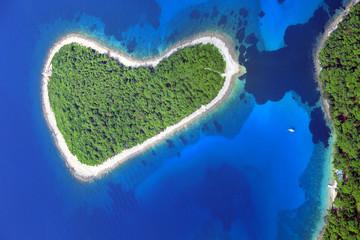Murtar Island, Croatia, aerial view
