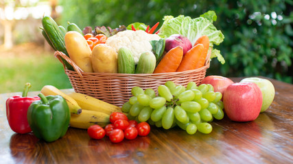 healthy food vegetables and fruits