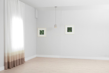 Empty living room with window. Interior design