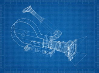 Movie camera Architect blueprint
