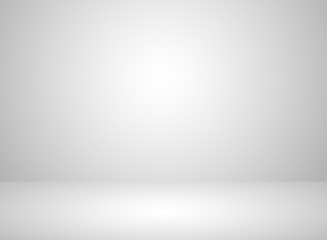 Studio room interior white color background with lighting effect