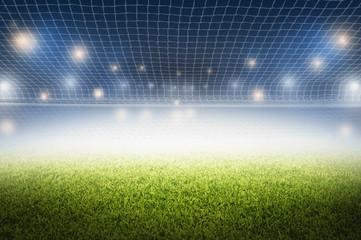 soccer field night stadium design background