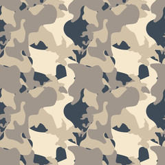 Abstract camo background as urban camouflage in different shades of beige, brown and blue