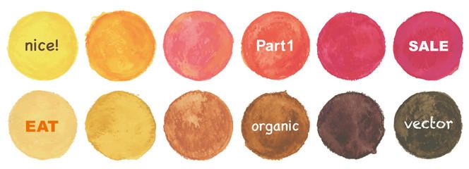 Colorful vector watercolor circles
