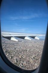 Flugzeug und Flügel Aussicht