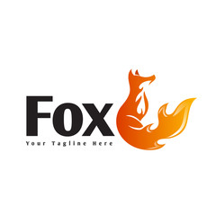 Stand fox with spirit fire logo