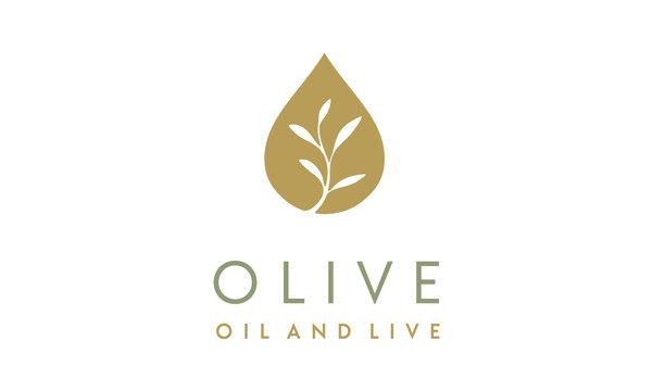 Olive Oil / Droplet and Flower logo design inspiration
