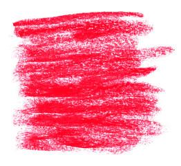 Unordentliche Kreidestriche rot